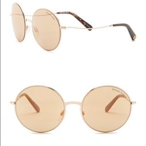 Michael Kors Round Gold Sunglasses